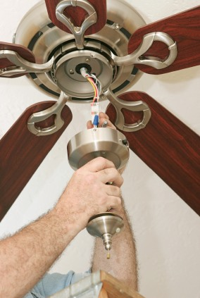 Ceiling fan install in Marcellus NY by JP's Best Electric.